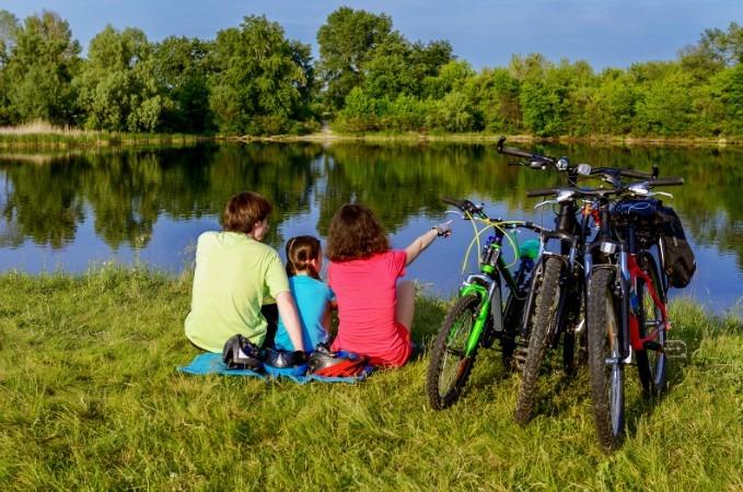 kolesarjenje - družina